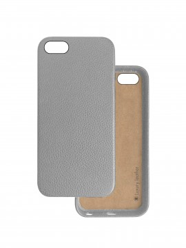 COQUE IPHONE 5 et SE EN CUIR DE LUXE EXCLUSIVE CASE GRIS