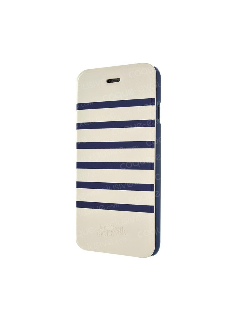 etui folio jean paul gaultier marini re blanc navy. Black Bedroom Furniture Sets. Home Design Ideas