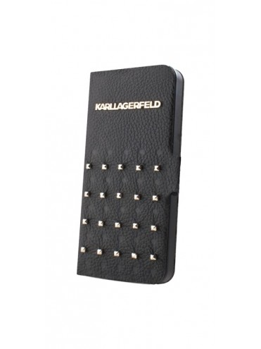 Etuis à rabat KARL LAGERFELD pour modèle IPHONE 4/4S - KLFLHP4TRSB