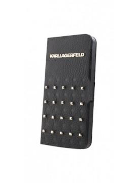 Etuis à rabat KARL LAGERFELD pour modèle IPHONE 5/5S - KLFLHP5TRSB