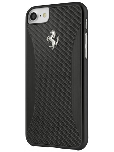 coque rigide ferrari carbone noire - iphone 7 - coque exclusive
