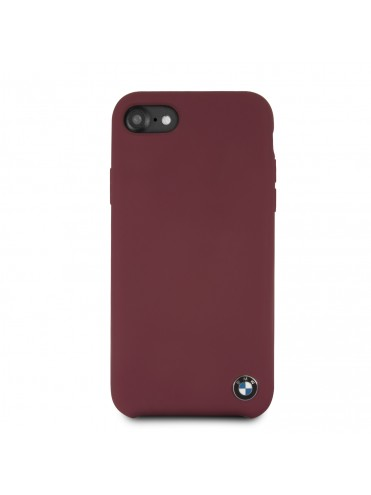 bmw signature coque rigide silicone bordeaux iphone678