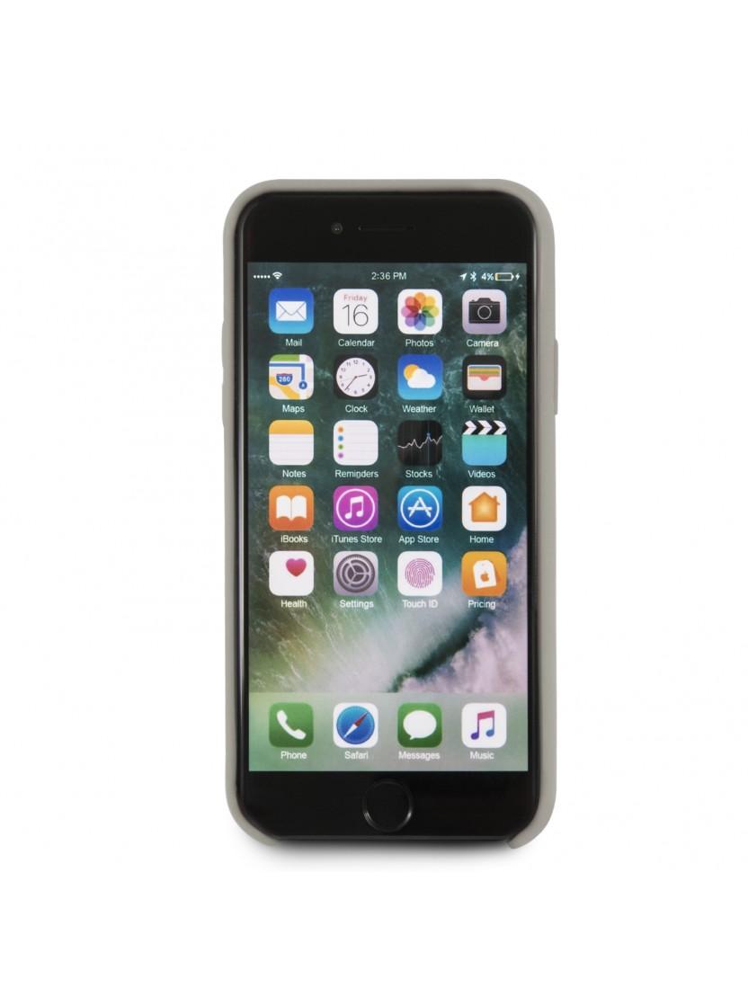 coque iphone 8 silicone taupe
