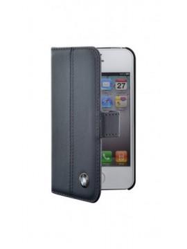 Etuis à rabat BMW pour modèle IPHONE 4/4S - BMFLHP4LN