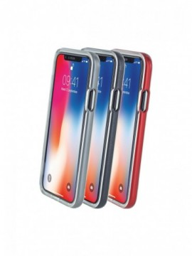 Bumpers COLORBLOCK pour modèle IPHONE XS - CBPCOV3IN1IP8SLV