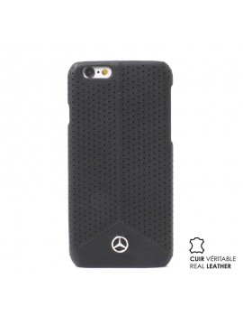 COQUE RIGIDE NOIR MERCEDES CUIR VERITABLE COLLECTION PURE LINE