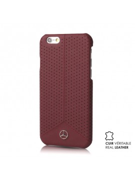 COQUE RIGIDE ROUGE MERCEDES CUIR VERITABLE COLLECTION PURE LINE