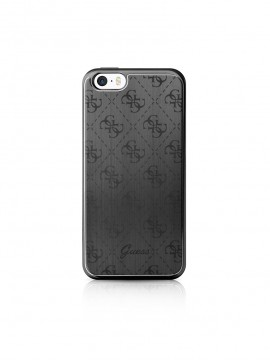 COQUE RIGIDE NOIRE GUESS COLLECTION 4G