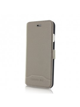 ETUI FOLIO TAUPE EN CUIR CERRUTI COLLECTION SIGNATURE TRIM