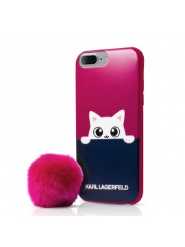 Coque souple rose Karl Lagerfeld collection K-Peek