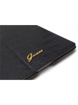 ETUI FOLIO GUESS NOIR MAT CROCODILE COLLECTION