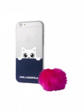 Coque souple KARL LAGERFELD pour modèle IPHONE 7 - KLHCP7TRGPABPI